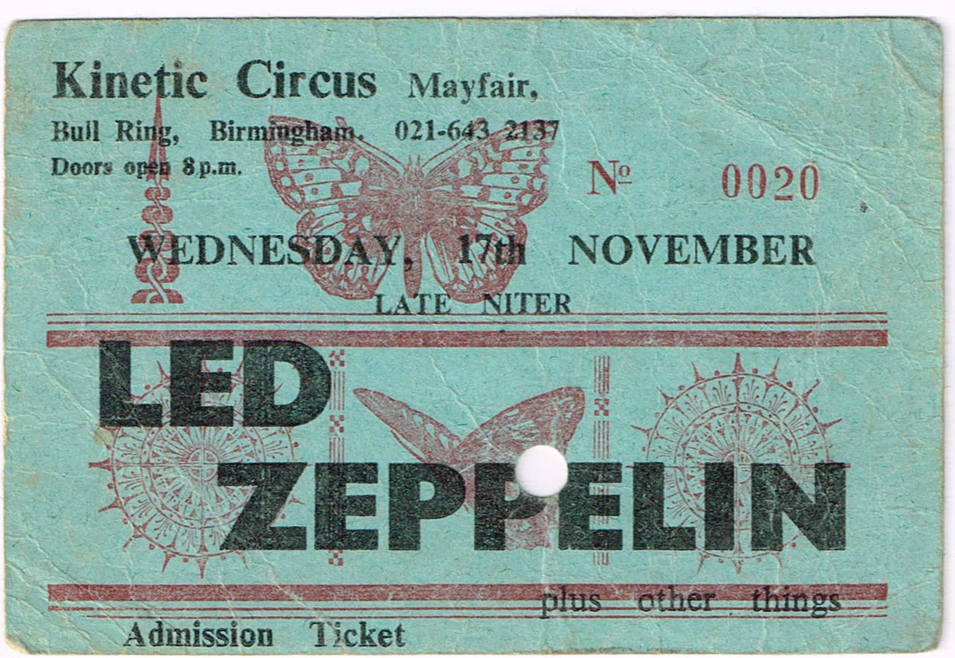 Kinetic Circus Ticket Stub1