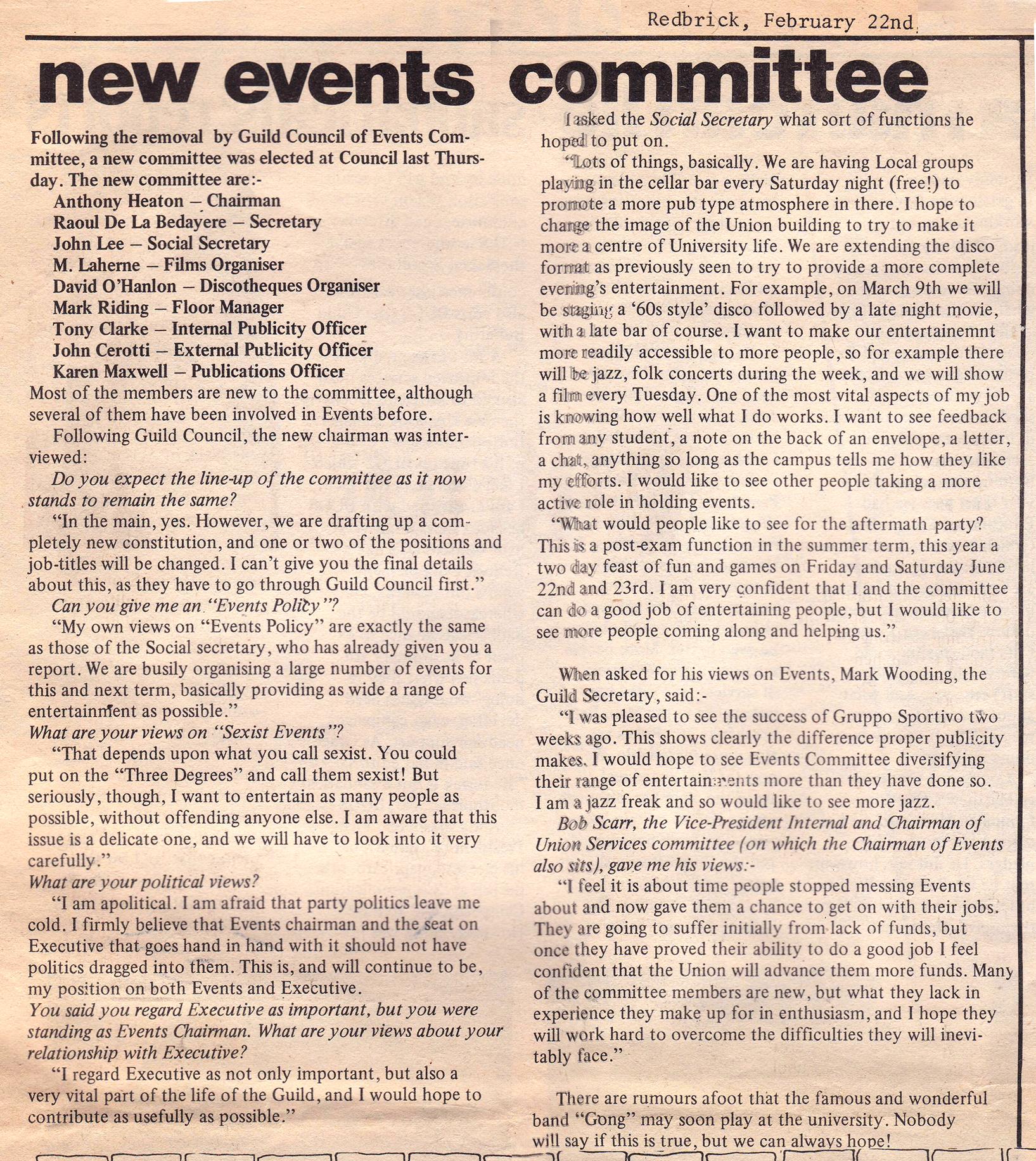 Redbrick21 feb 1979