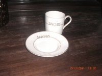 Snobs cup & saucer 1