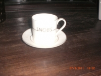 Snobs cup & saucer