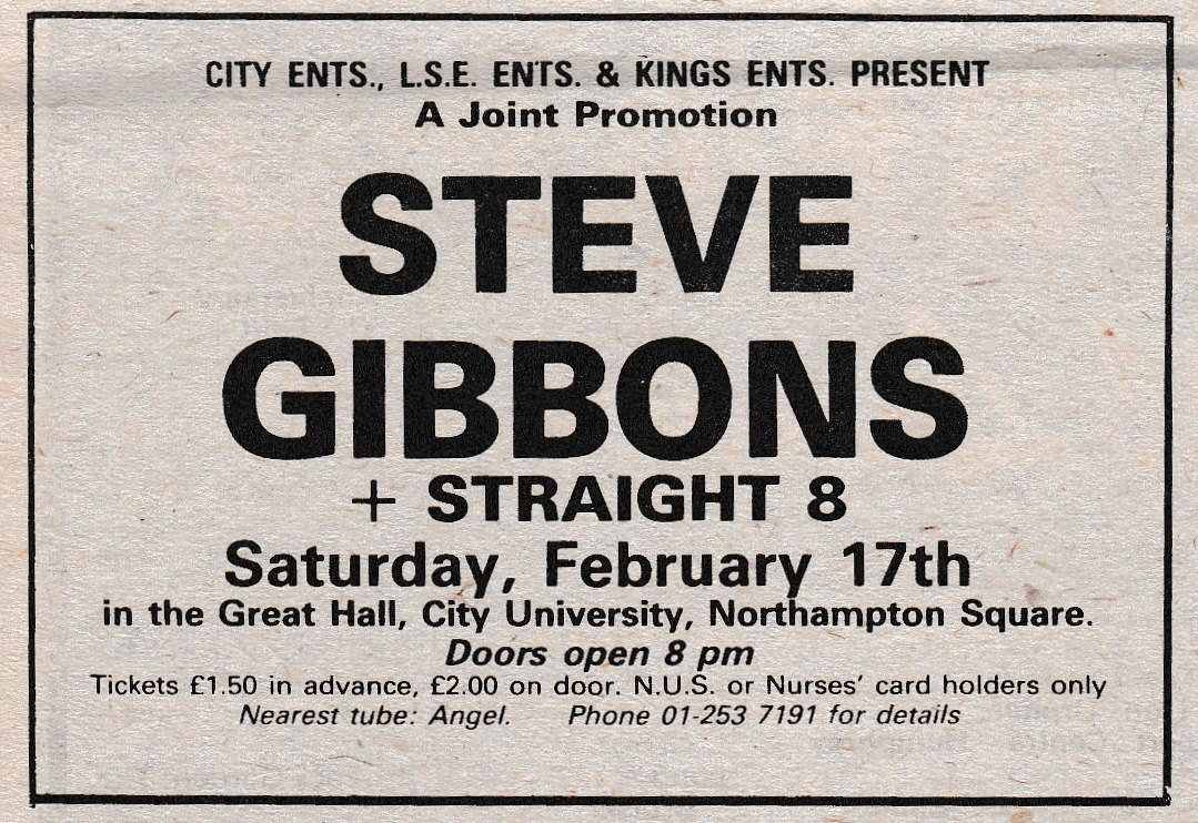 Steve Gibbons Ticket Stub