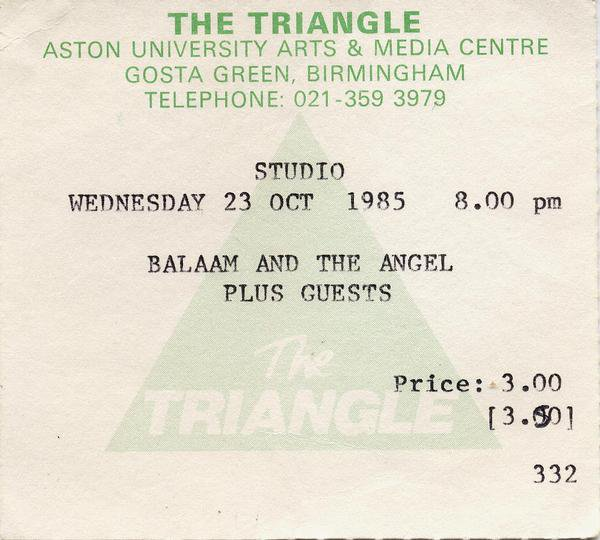 Balaam and the Angel - The Triangle 23 October 1985