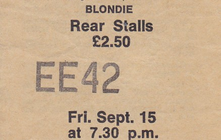 Blondie Birmingham Odeon 15-09-1978